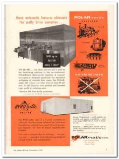 Polarmatic Corp 1959 Vintage Ad Ice Cream Brine Operation Eliminate