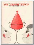 ice cream field 1959 november magazine cover vintage print