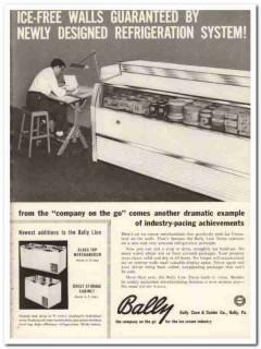 Bally Case Cooler Company 1959 Vintage Ad Ice Cream Newly Designed