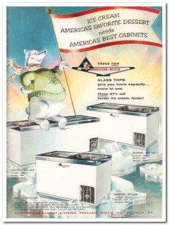 Anheuser-Busch Inc 1959 Vintage Ad Ice Cream Cabinets Glass Tops Best