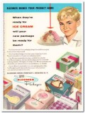 Bloomer Bros Company 1959 Vintage Ad Ice Cream Product Package Home