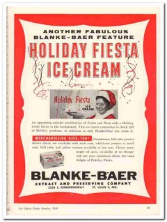 Blanke-Baer Extract Preserving Company 1959 Vintage Ad Ice Cream Fruit
