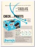Burry Biscuit Corp 1959 Vintage Ad Ice Cream Twelve Treats Profits