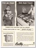Bally Case Cooler Company 1959 Vintage Ad Ice Cream Angle Freezer Man
