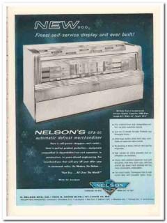 C Nelson Mfg Company 1959 Vintage Ad Ice Cream Display Unit Self-Serv
