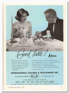 International Flavors Fragrances Inc 1959 Vintage Ad Ice Cream Alvan