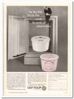 lily-tulip cup company 1959 locked-in container ice cream vintage ad