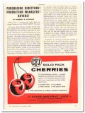 Cleveland Fruit Juice Company 1959 Vintage Ad Ice Cream Cherries CFJ