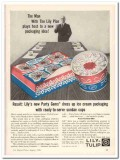 Lily-Tulip Cup Corp 1959 Vintage Ad Ice Cream Packaging Party Gems