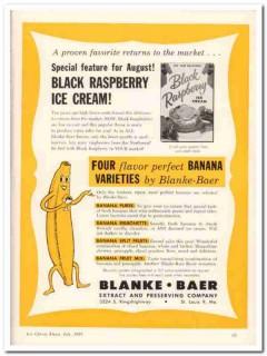 Blanke-Baer Extract Preserving Company 1959 Vintage Ad Ice Cream Black