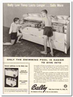 Bally Case Cooler Company 1959 Vintage Ad Ice Cream Cabinet Low Temp