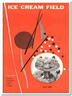 ice cream field 1959 july magazine cover vintage print