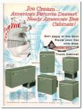 Anheuser-Busch Inc 1959 Vintage Ad Ice Cream Truck Cabinets Dessert