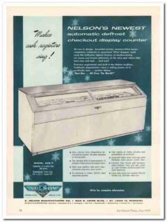 C Nelson Mfg Company 1959 Vintage Ad Ice Cream Display Counter ACD-7