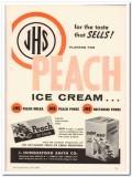 J Hungerford Smith Company 1959 Vintage Ad Ice Cream JHS Peach Flavor