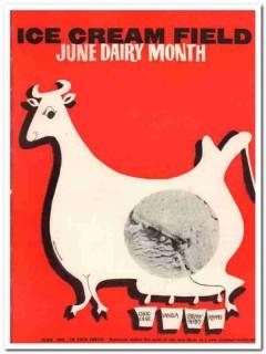 ice cream field 1959 june wm giacalone magazine cover vintage print