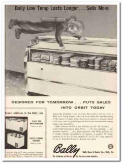 Bally Case Cooler Company 1959 Vintage Ad Ice Cream Orbit Low Temp