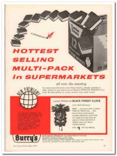 Burry Biscuit Corp 1959 Vintage Ad Ice Cream Sandwich Hottest Selling