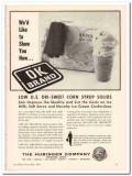 Hubinger Company 1959 Vintage Ad Ice Cream Corn Syrup Solids Dri-Sweet