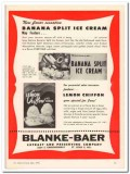 Blanke-Baer Extract Preserving Company 1959 Vintage Ad Ice Cream Lemon
