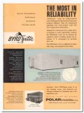 Polarmatic Corp 1959 Vintage Ad Ice Cream BYRDarctic Vault Reliability
