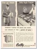 Bally Case Cooler Company 1959 Vintage Ad Ice Cream Angle Freezer Back