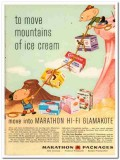 American Can Company 1959 Vintage Ad Ice Cream Marathon Glamakote Move