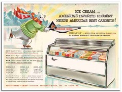 Anheuser-Busch Inc 1959 Vintage Ad Ice Cream Cabinets Model AG Best