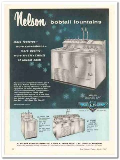 C Nelson Mfg Company 1960 Vintage Ad Ice Cream Bobtail Fountains PF-A