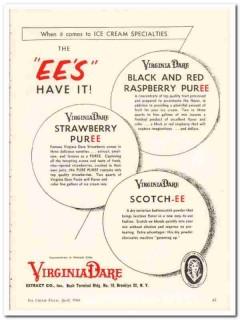 Virginia Dare Extract Company 1960 Vintage Ad Ice Cream PurEEs Have It