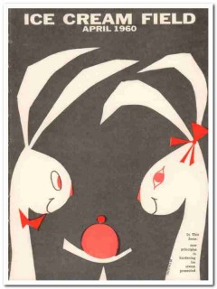 ice cream field 1960 april wm giacalone magazine cover vintage print