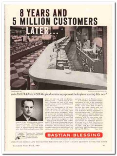 Bastian-Blessing Company 1960 Vintage Ad Ice Cream Lasalle Pharmacy