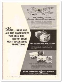 California Almond Growers Exchange 1960 Vintage Ad Ice Cream Flavors