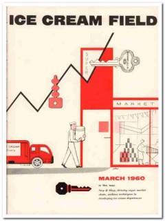 ice cream field 1960 march jellinek magazine cover vintage print