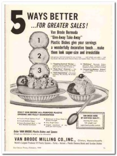 Van Brode Milling Company 1960 Vintage Ad Ice Cream Dishes Better Ways
