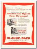Blanke-Baer Extract Preserving Company 1960 Vintage Ad Ice Cream Split