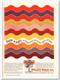Balch Flavor Company 1960 Vintage Ad Ice Cream Ripple Right Sauces