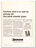 Cherry-Burrell Corp 1960 Vintage Ad Ice Cream Push-Button Control Mix