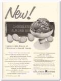 California Almond Growers Exchange 1960 Vintage Ad Ice Cream Chocolate