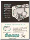 C V Hill Company 1960 Vintage Ad Ice Cream Cabinet Savage OC Line