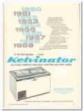 American Motors Corp 1960 Vintage Ad Ice Cream Kelvinator Cabinet Sold