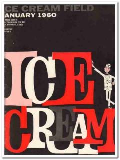 ice cream field 1960 january trade magazine cover vintage print