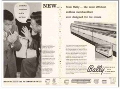 Bally Case Cooler Inc 1960 Vintage Ad Ice Cream Merchandiser Efficient