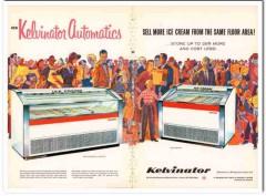 American Motors Corp 1960 Vintage Ad Ice Cream Kelvinator Automatics