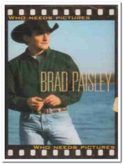 brad paisley - who need pictures 1999 sealed audio cassette tape
