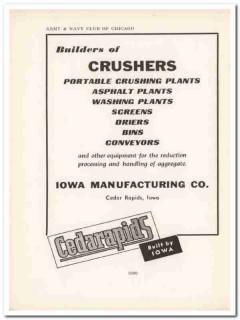 iowa mfg company 1943 cedarapids crushers ww2 wartime vintage ad