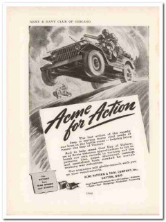 acme pattern tool company 1943 action victory ww2 wartime vintage ad