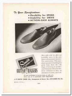 j p smith shoe company 1943 synchro-flex ww2 wartime vintage ad
