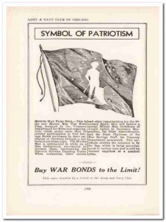 army navy club 1943 symbol patriotism war bonds ww2 wartime vintage ad