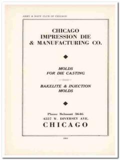 chicago impression die mfg company 1943 molds ww2 wartime vintage ad